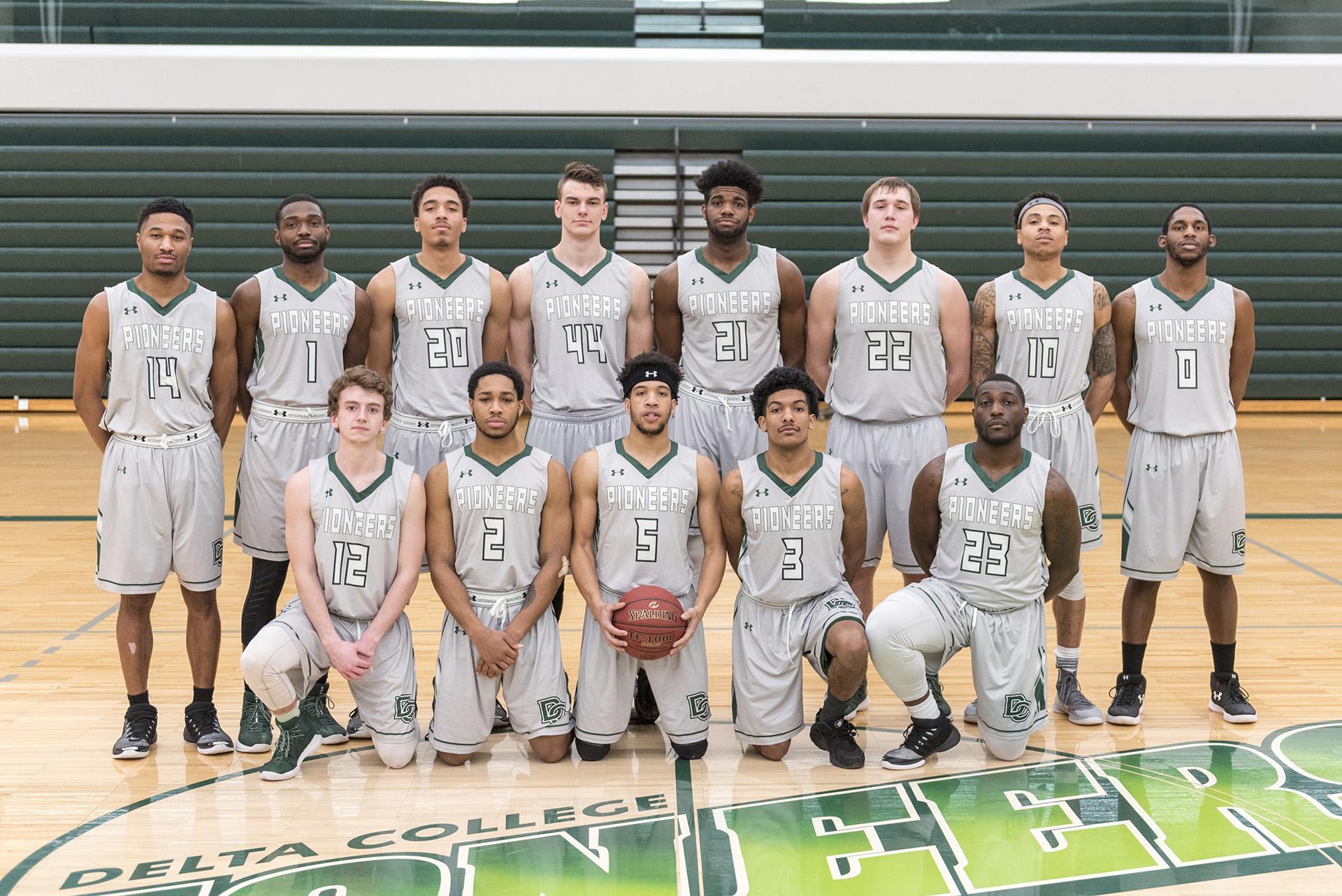 2018 Delta College mens basketball team