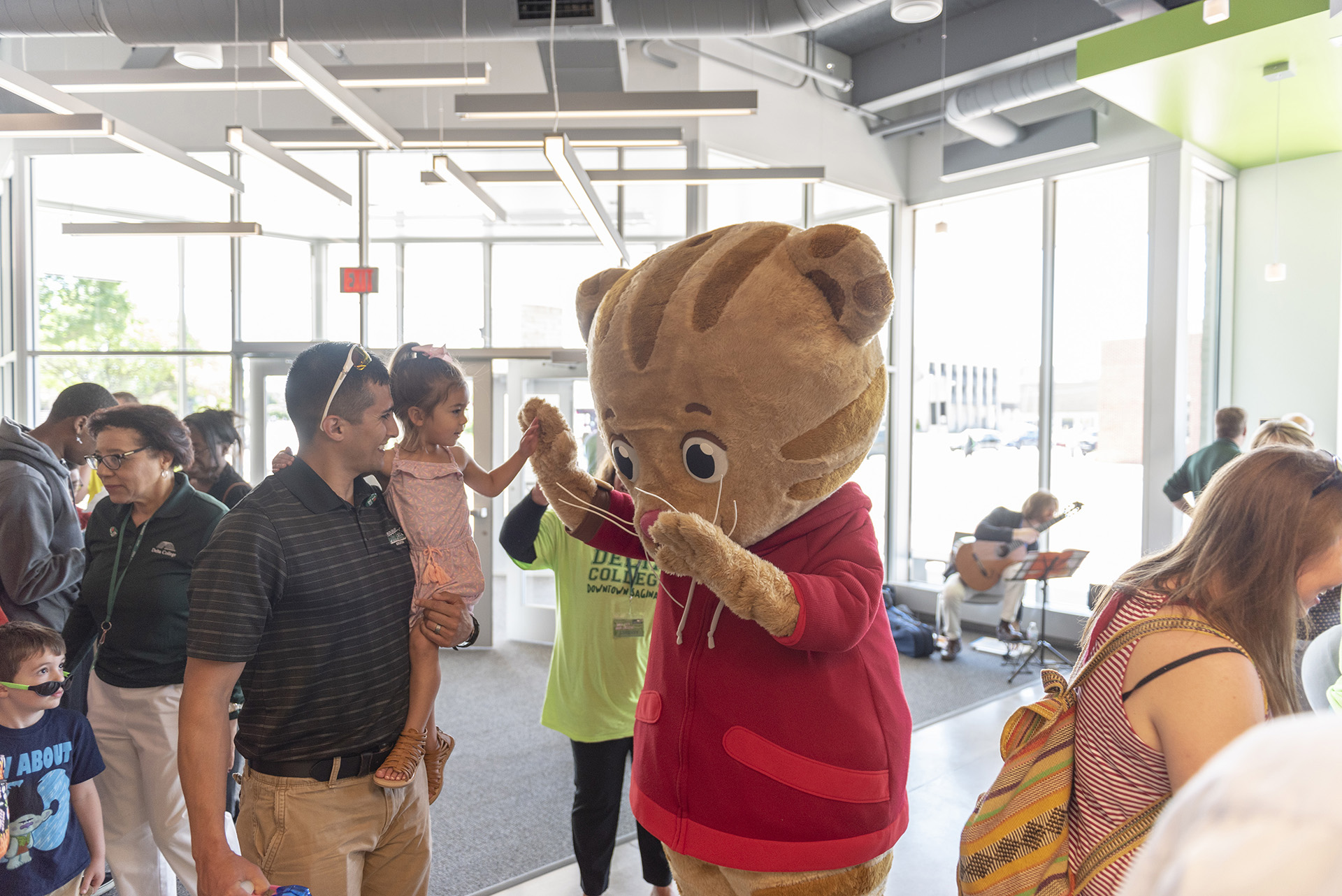 Daniel Tiger at the Downtown Saginaw Open House