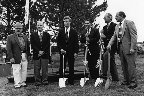 Earl Selby at a Delta groundbreaking ceremony