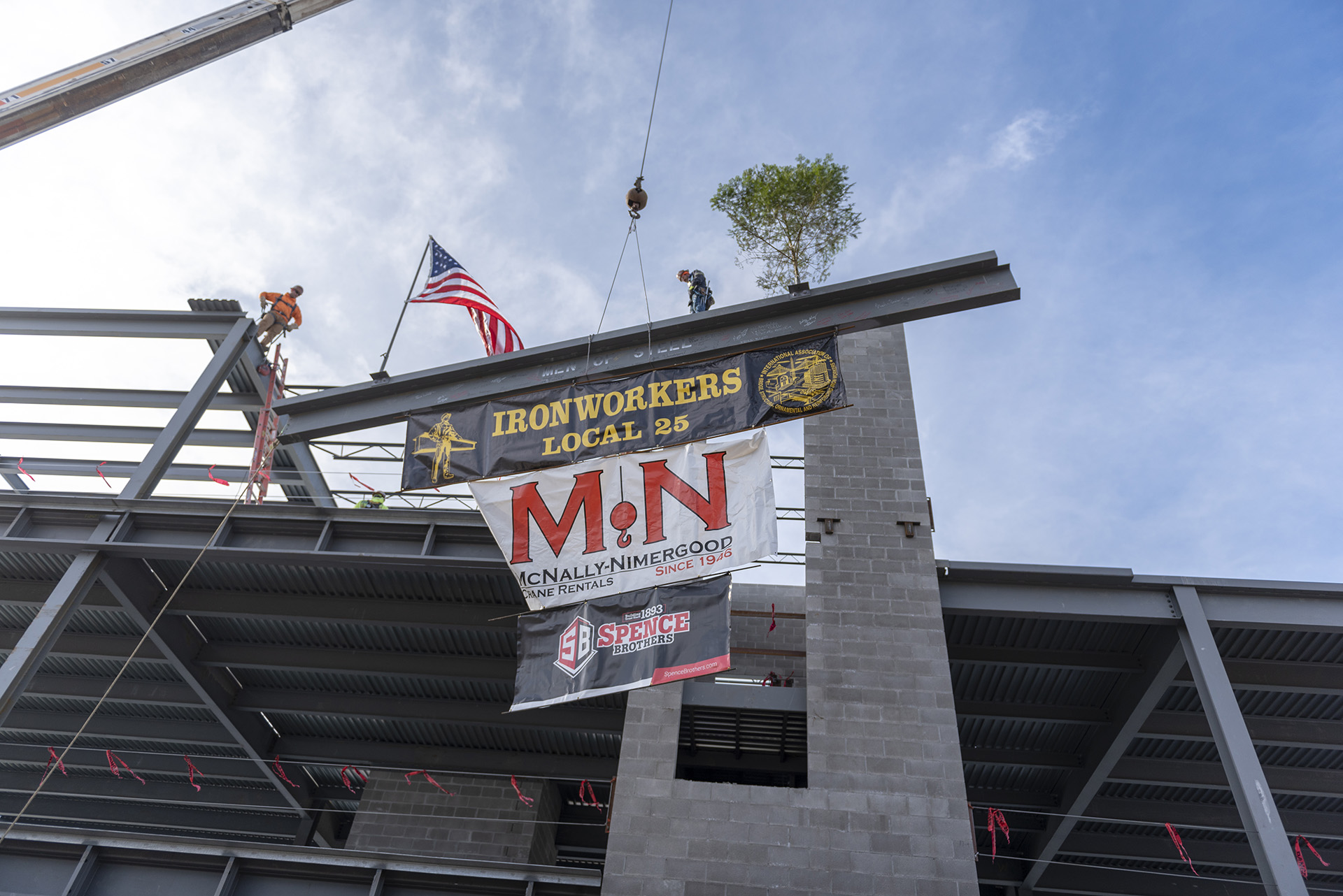 Midland Center final beam