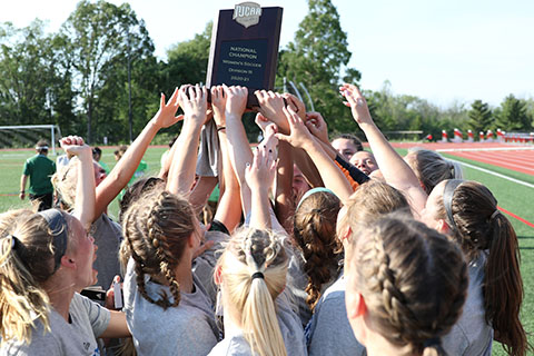 The Delta College women's soccer team won its first NJCAA Division III Women's Soccer National Tournament June 5 in New Jersey.