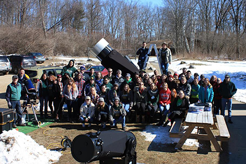 Astronomy Club with large telescopes