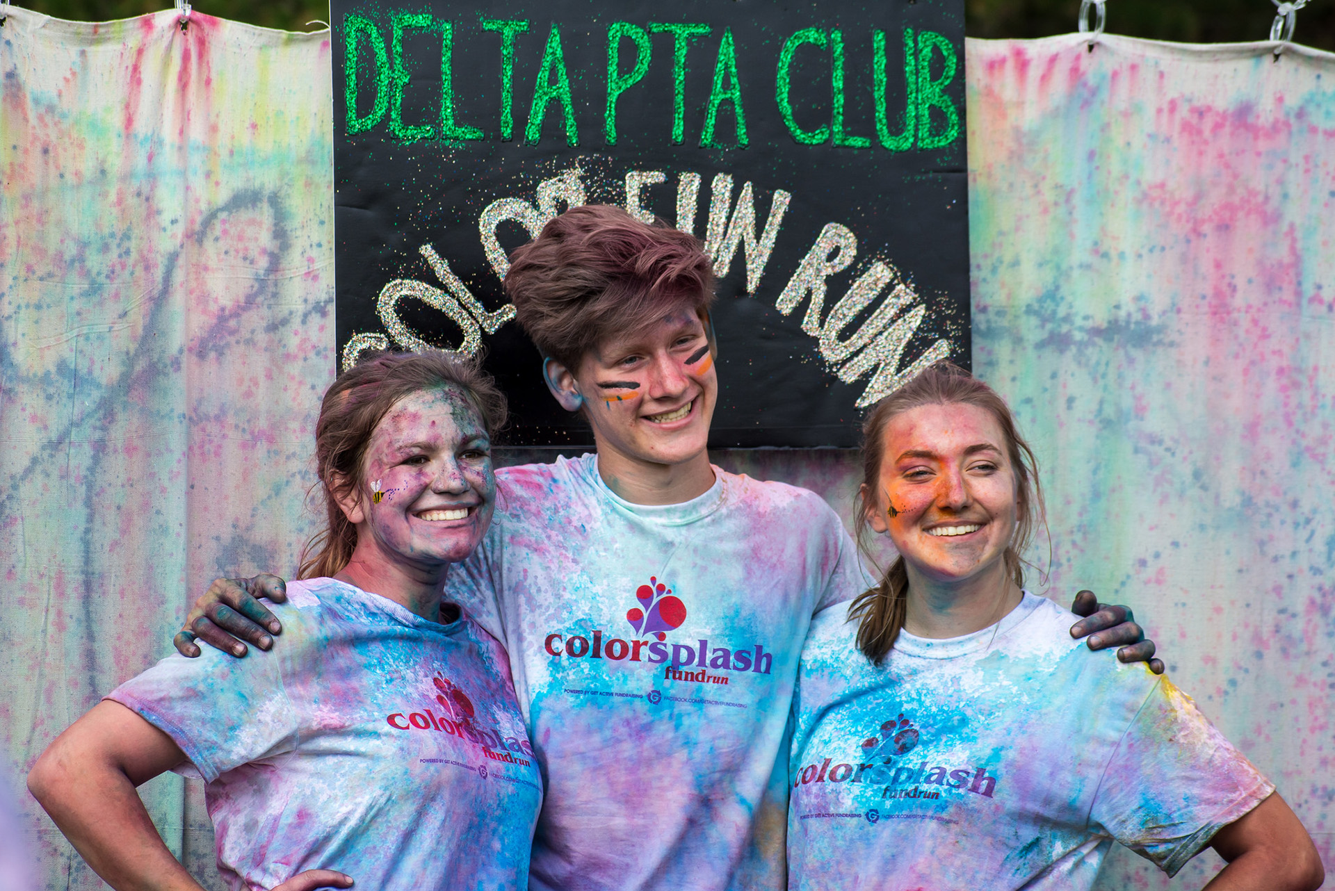 PTA students at the Color Run