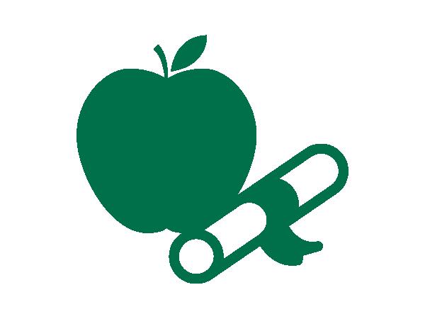 Apple and diploma