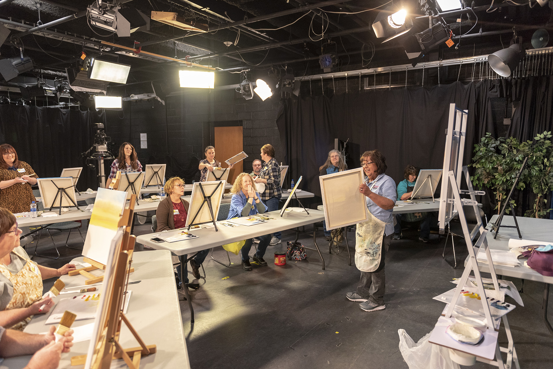 Delta College Public Media hosts many community events, like a Bob Ross painting class.