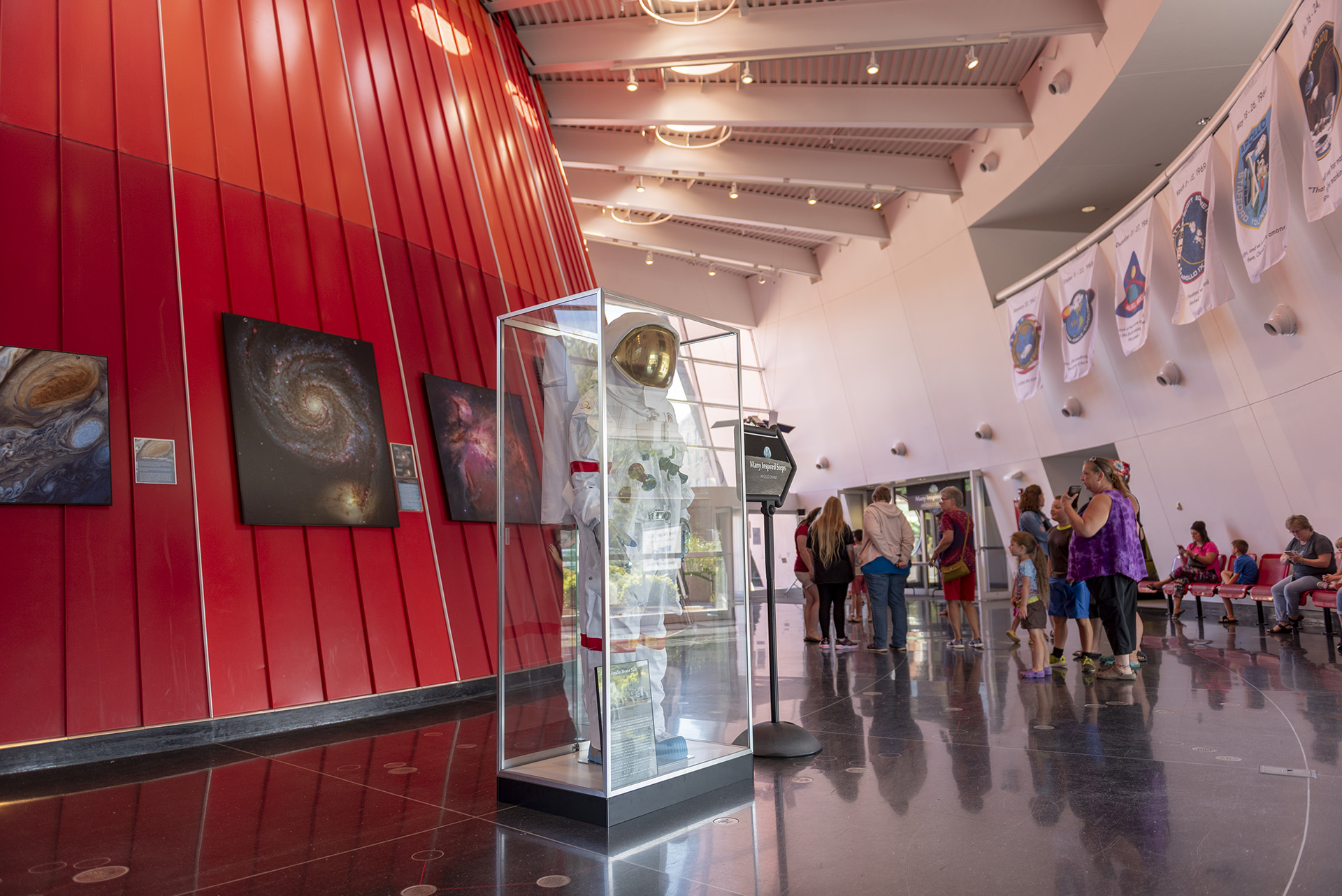 The Planetarium was designed around the metaphors of space and exploration.