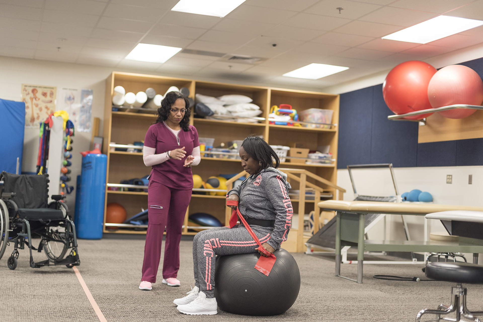 Students in the physical therapist assistant program have their own lab space.