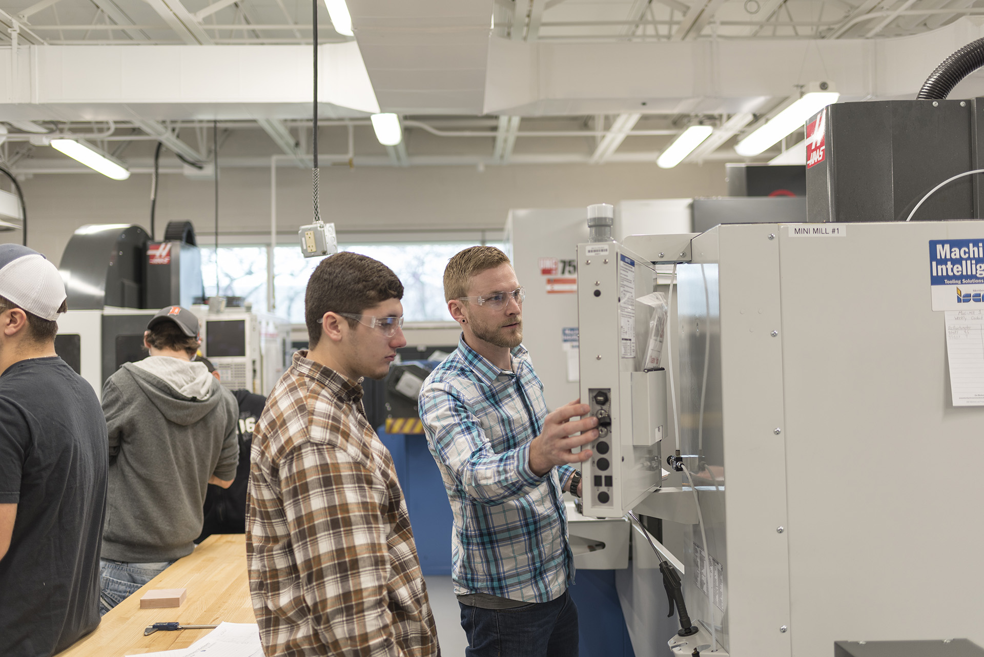 The CNC lab provides a space for students to gain the skills needed to operate computer-driven machines.