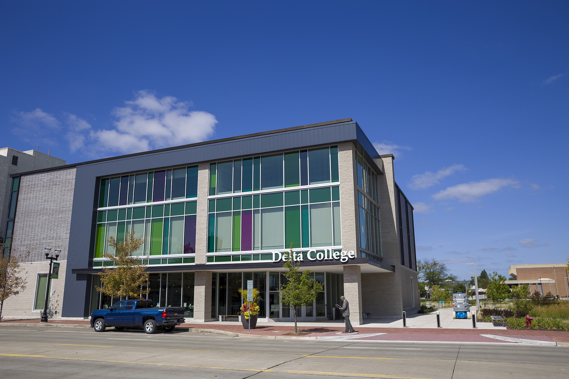The Downtown Saginaw Center opened for classes in 2019.