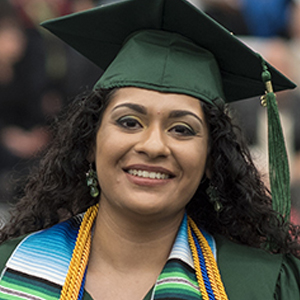 Adelina Gutierrez at Commencement