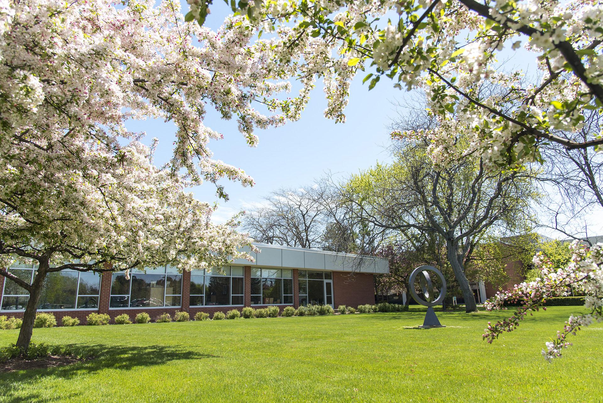 Main campus in spring