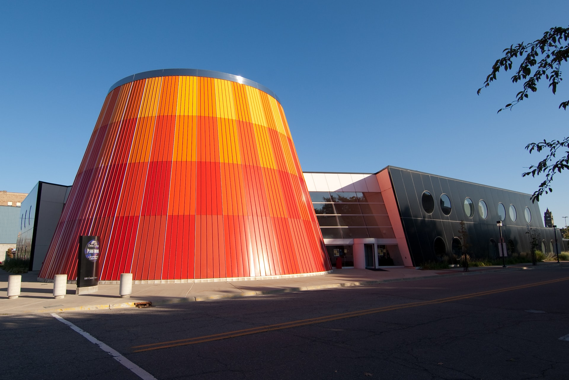 Exterior of the Planetarium & Learning Center